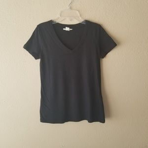 NWOT Black V Neck TShirt